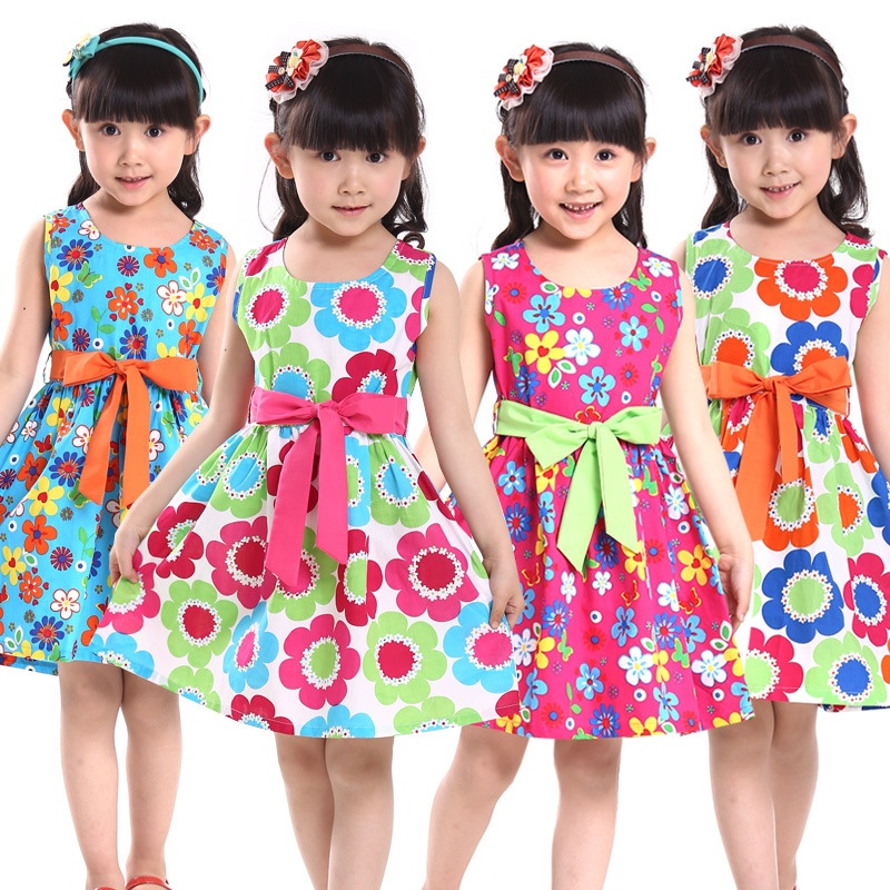 New-summer-kids-clothes-floral-bow-100